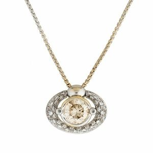 18k FOPE 3.25ct Solitaire Diamond Necklace